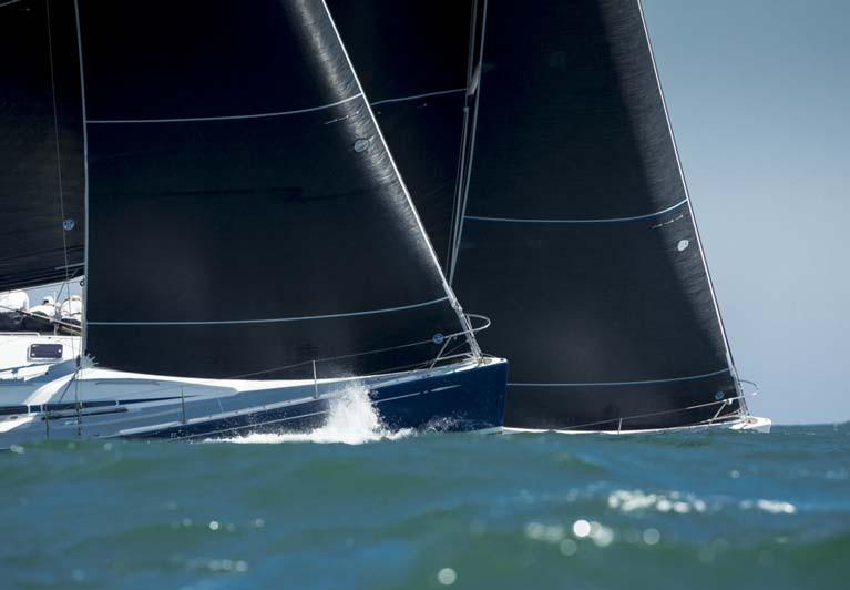Why are Racing Sails Black?