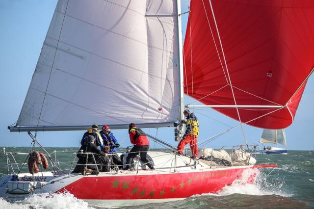 Red Alert competing in the Dublin Bay based DMYC Kish Race. A big turnout is predicted for coastal racing as part of July's Dun Laoghaire Regatta