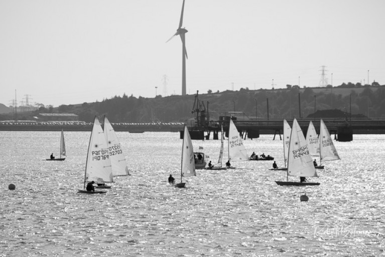 Laser dinghies racing at Monkstown in Cork Harbour - The Laser class has made amendments to its 2020 calendar