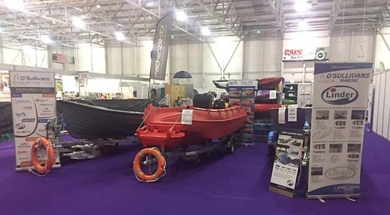 kayaks, inflatables, outboards and safety equipment is on display this weekend on the O'Sullivans Marine stand at Ireland Angling Show