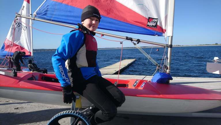 Jude Armstrong, a member of Upper Thames Sailing Club (UTSC), has received a Topper dinghy to help his training plans