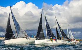 19 ISORA boats from the entry list of 20 came to the start line in Dun Laoghaire