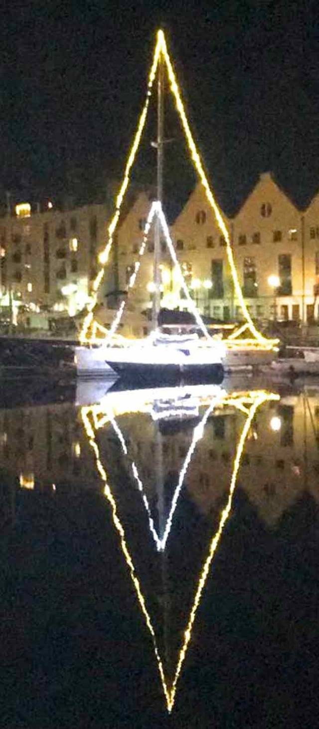 Don't they know it's Christmas? The west coast may have had some serious storm batterings recently, but Christmas calms - the Halcyon days – have descended on Galway Harbour this week. Yet some reports suggest that not everyone is delighted with the brightly festive boats in the city-centre marina