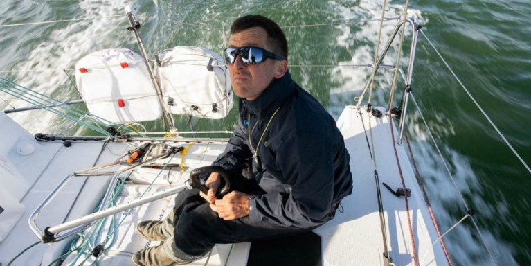 Serious business. Tom Dolan in the process of restructuring his sailing on Smurfit Kappa after good speed but erratic tactics provided frustration in the Figaro Solitaire 2019, a situation he and his support team successfully rectified for 2020's race