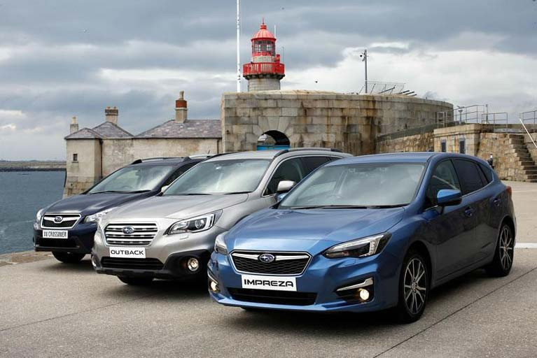 The Subaru range at Dun Laoghaire Harbour