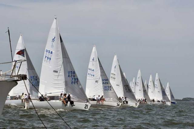Racing at the 2018 Nationals at Foynes Yacht Club