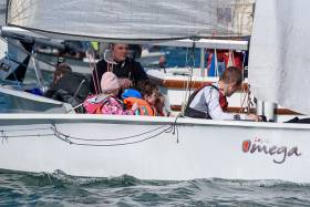 The O'Donovan family entry in the Omega dinghy at RCYC's  PY1000 event. Scroll down for photo gallery below