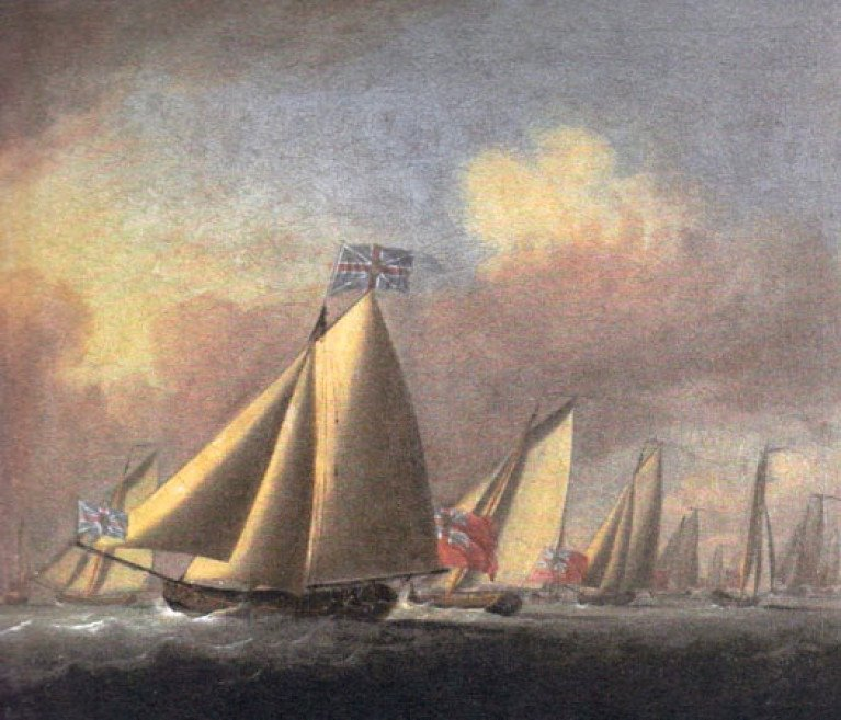 The yachts of the 1720-founded Water Club of the Harbour of Cork – the predecessor of the Royal Cork Yacht Club – as recorded on fleet manoeuvres by Dutch artist Peter Monamy in 1738. The Royal Cork YC's unique collection of maritime art and memorabilia – some of it 300 years old – is an eloquent testimony to the continuity and quality of sailing enthusiasm in Cork Harbour.