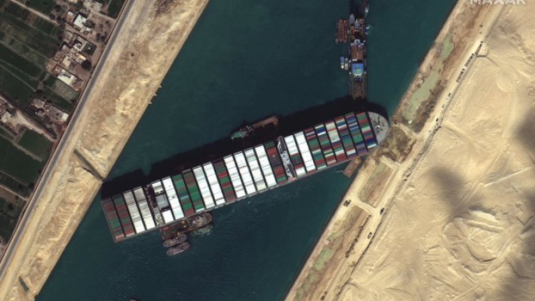 Salvage efforts are continuing to free a mammoth container ship, Ever Given that has blocked the Suez Canal for six days, crippling international trade and causing losses worth millions of euro.