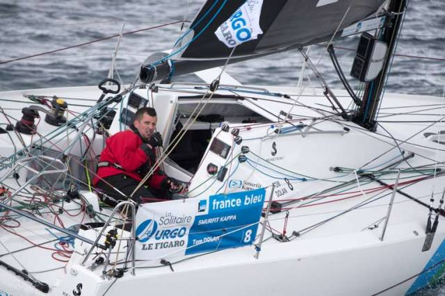 Tom Dolan skipper Smurfit Kappa at the end of stage one of la Solitaire Urgo Le Figaro 2019 off Kinsale