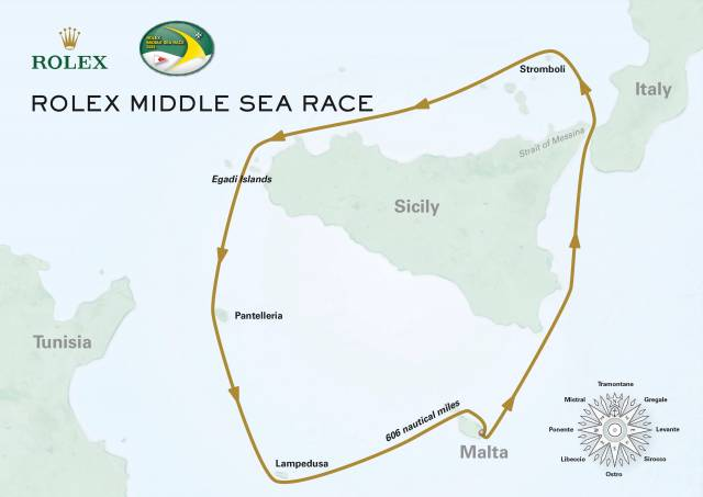 Middle Sea Race Course