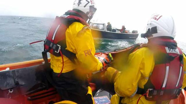 Larne and Red Bay RNLI lifeboats were called out to a vessel lost in fog