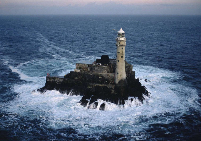 Challenging tides mark the distance between the West Cork mainland and Fastnet Rock