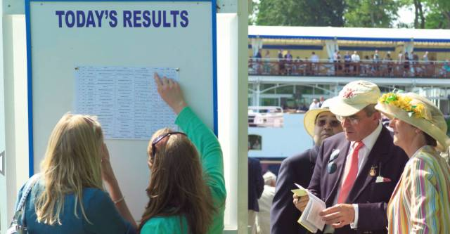 Checking the results at Henley