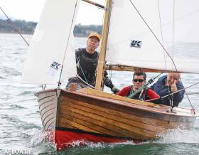 Sam Shields (right), twice winner, has bought the famous Helen 76 (above) and completely rebuilt her for the Mermaid Championships