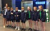 The Irish Optimist sailing team at Dublin Airport, early this morning, on their way to Bulgaria