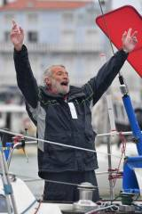 Jean-Luc Van Den Heede crossed the finish line at Les Sables d'Olonne to win the 2018 Golden Globe Race
