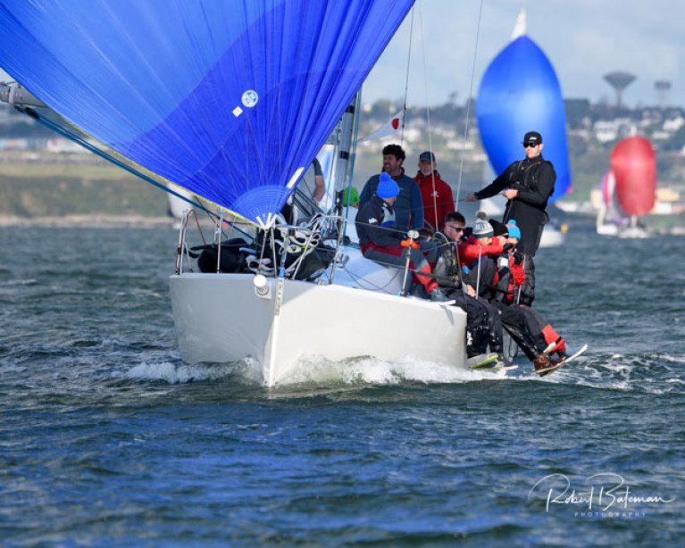 Brian Jones' Jelly Baby is last year's IRC One Autumn league winner. The J109 crew is defending its title on Sunday in Cork Harbour