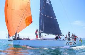 Royal Irish Yacht Club's Farr 42 WOW has retired from the Round Ireland Race