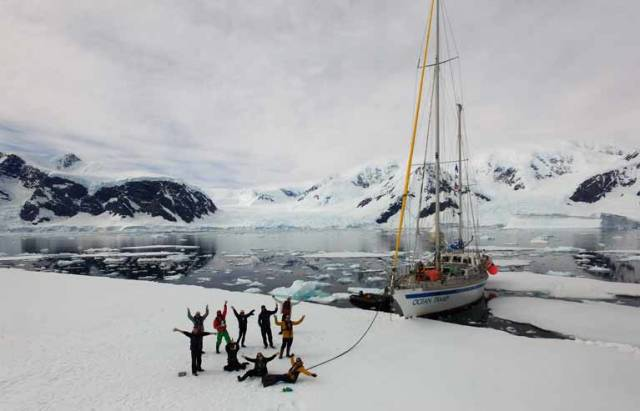 Team South are leading a series of expeditions in Antarctica this winter in SV Ocean Tramp