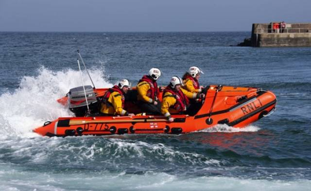 Newcastle Lifeboat Rescues Man Clinging To Kayak