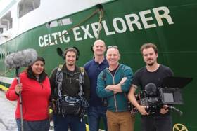 The BBC One television crew members joined scientists undertaking the WESPAS (Western European Shelf Pelagic Acoustic) Survey in July 2017