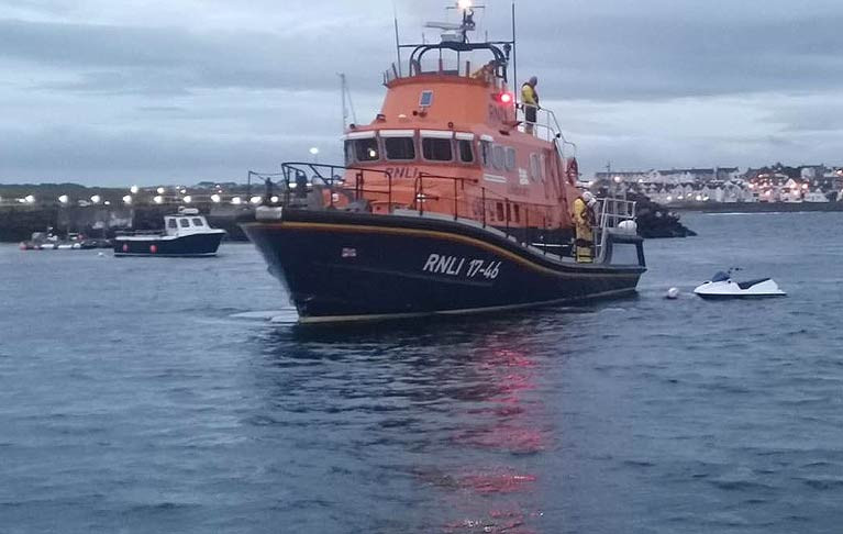 The jetski was retrieved by Portrush Lifeboat