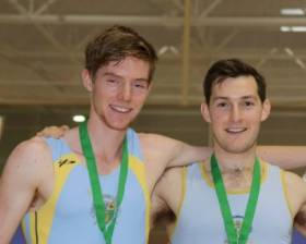 Shane Mulvaney and Paul O'Donovan at the Irish Indoor Championships 2016.