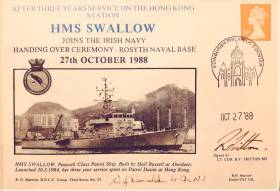 This day last week, 27 October, marked the 30th anniversary (1988) at Rosyth Naval Base, Scotland where a pair of UK Royal Navy 'Peacock' class vessels that were based in Hong Kong, were handed over to the Irish Naval Service, where they continue to serve proudly and with distinction as LÉ Orla (P41) and LÉ Ciara (P42). However they are among the oldest in the fleet.