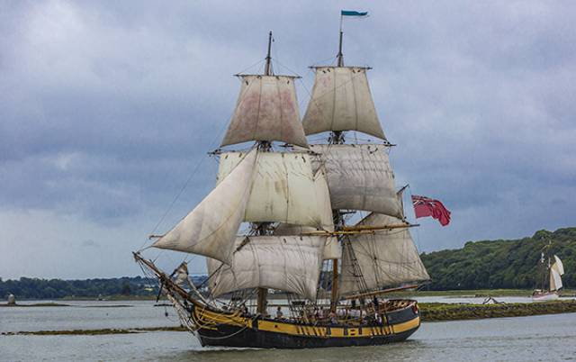 The Phoenix Tall Ship on the River Boyne