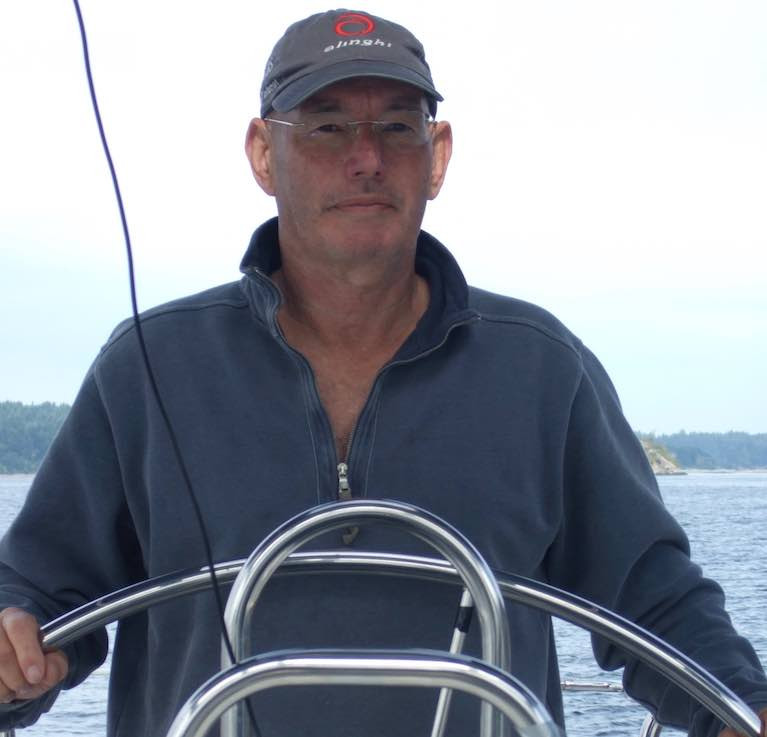 Peter Vine at the helm