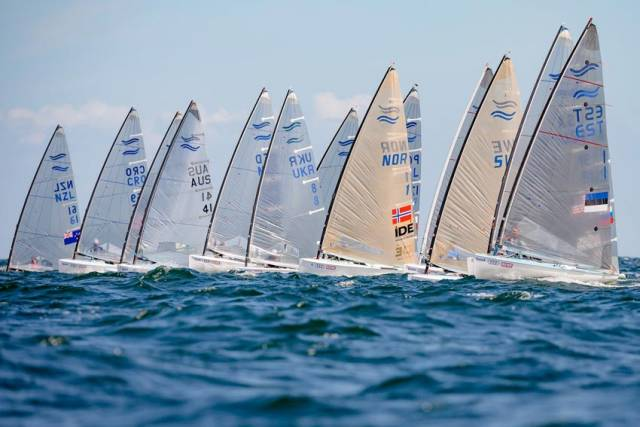 Finn Lynch barely missed out on a spot in the Finn fleet medal race at Kieler Woche