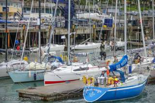 Part of this year's D2D fleet assembled at the National Yacht Club prior to the race