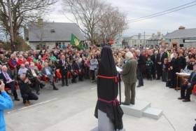 The President unveils a sculpture of Roger Casement in Ardfert, Co. Kerry