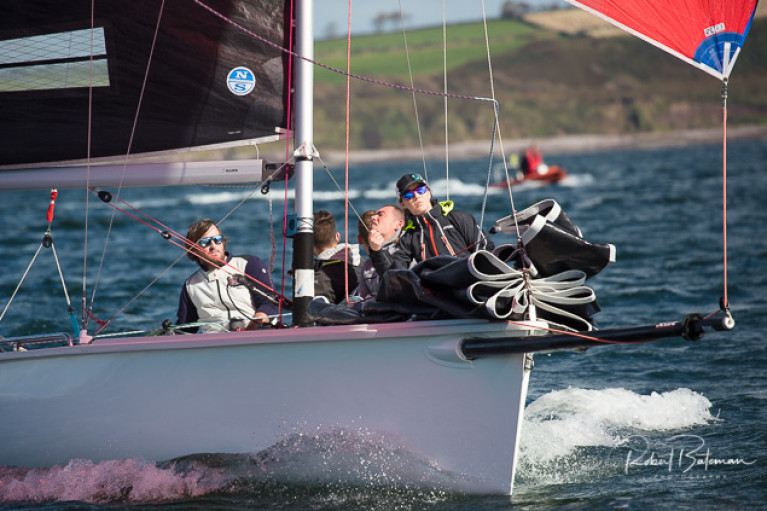 Overall leader - Robert O'Leary's Dutch Gold crew are five points clear at the top in the 1720 Southern Championships sponsored by AIB. Scroll down for photo gallery