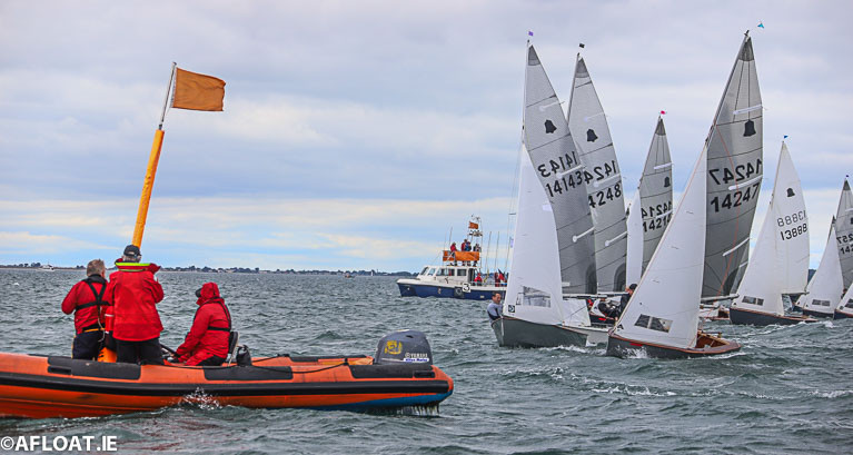 GP14 dinghies start a race at last year's Dun Laoghaire Regatta on Dublin Bay