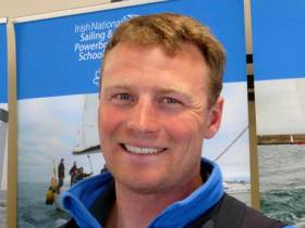 Kenneth Rumball in the newly-enlarged Irish National Sailing School premises in Dun Laoghaire this week. He is already in the midst of a busy sailing year, a highlight of which will be racing the INSS's successful J/109 Jedi in the Volvo Round Ireland Race with former overall winner Michael Boyd as skipper