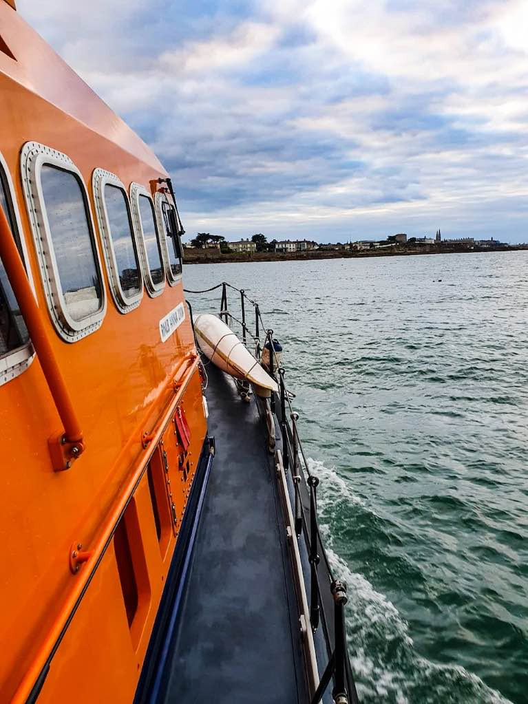 Dun Laoghaire Harbour RNLI Rescue Capsized Kayaker Near Bullock Harbour
