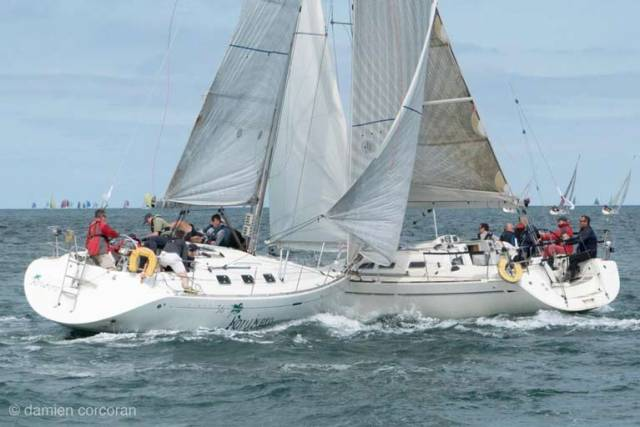 White Sail Yacht Collision Captured By Crewman at Volvo Dun Laoghaire Regatta