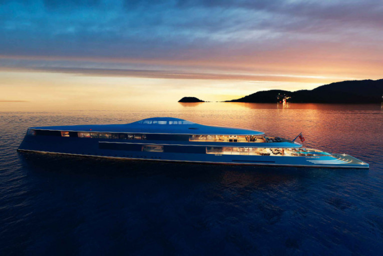 Sinot's Aqua concept mega-yacht would be powered entirely by liquid hydrogen