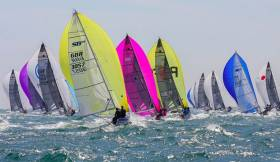 SB20s racing at  this year's world championships in Cascais