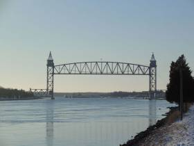 Railroad Bridge over the Cape Cod Canal near Boston