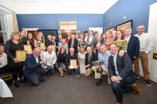 Sailing award winners at the National Yacht Club on Saturday night. Scroll down for a gallery of images