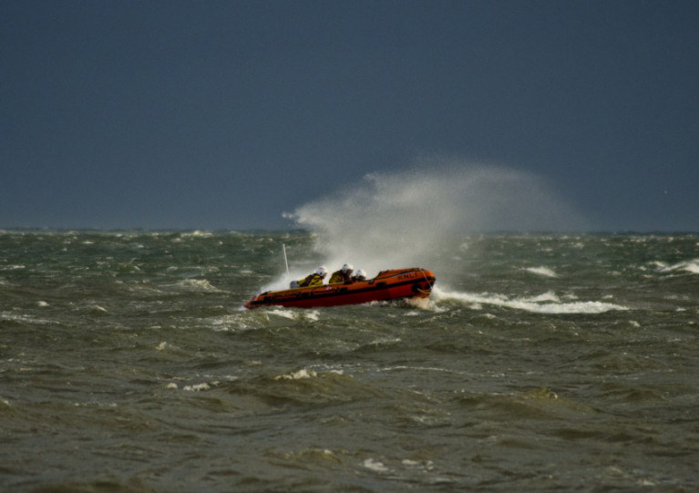 Aberdeen's inshore lifeboat Buoy Woody searches off Aberdeen Beach