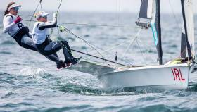 Annalise Murphy and Katie Tingle finished 13 from 23 in the 49er class at the Olympic Test Event in Enoshima this week where there scoreline encouragingly showed three top five results