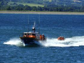 Wicklow RNLI's all-weather and inshore lifeboats at sea