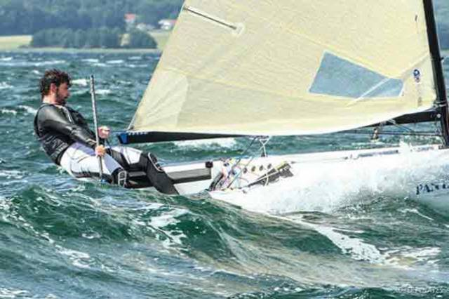 Rival Irish Finn Sailors in Action at Kiel Week
