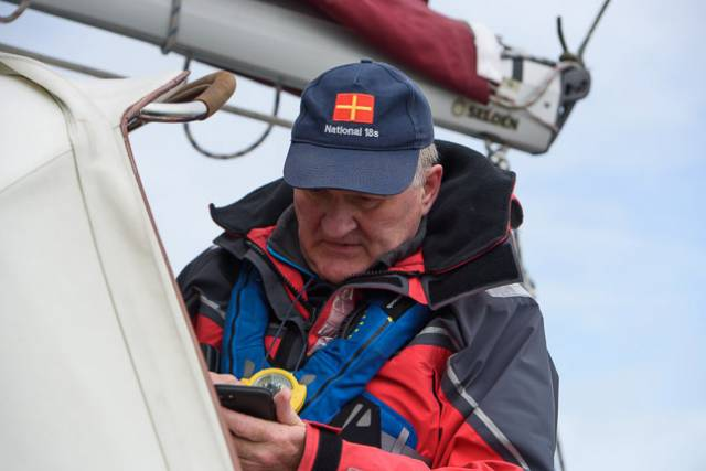 Irish Sailing President Jack Roy on duty as Race Officer at June's ICRA National Championships at Royal Cork Yacht Club