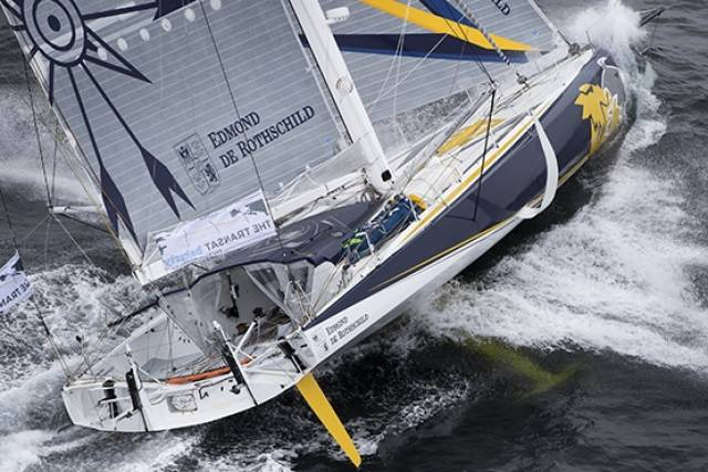 Edmond de Rothschild skipper Sébastien Josse was forced to retire in the early hours of the morning on May 4th after damaging his mainsail battens