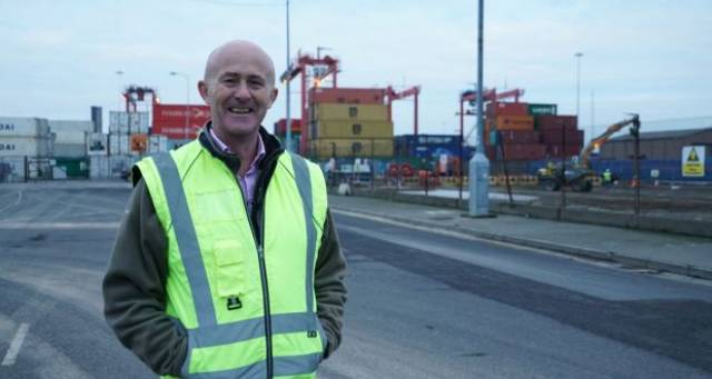 Eamonn O'Reilly, chief executive of Dublin Port. Mr O'Reilly says Dublin Port will be prepared for a hard-Brexit and customs posts will be functioning for the March 29th deadline